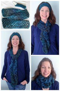 Collage Lagoon Love Knot Scarf 2