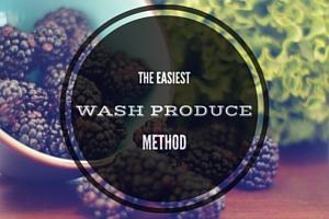 wash produce vinegar