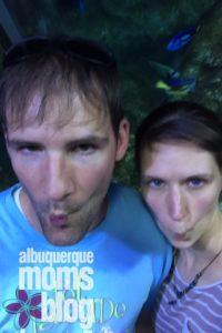 non dinner dates- aquarium. From Albuquerque Moms Blog.