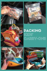 Packing Carry-Ons when flying with children. From Albuquerque Moms Blog.