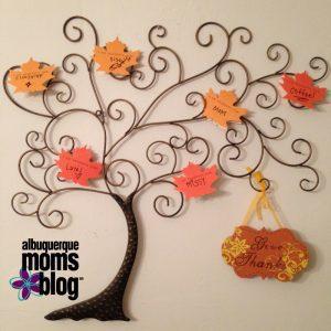 Thanksgiving: Family Thankful Tree - ABQ Moms Blog