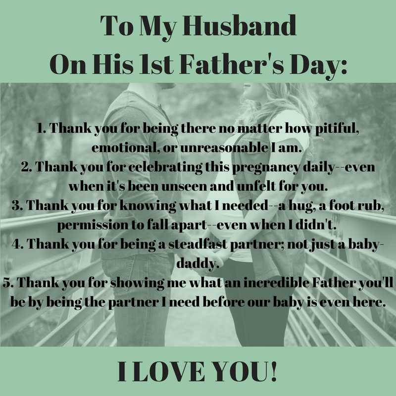 To My Husband On His 1st Father's Day from Albuquerque Mom's Blog
