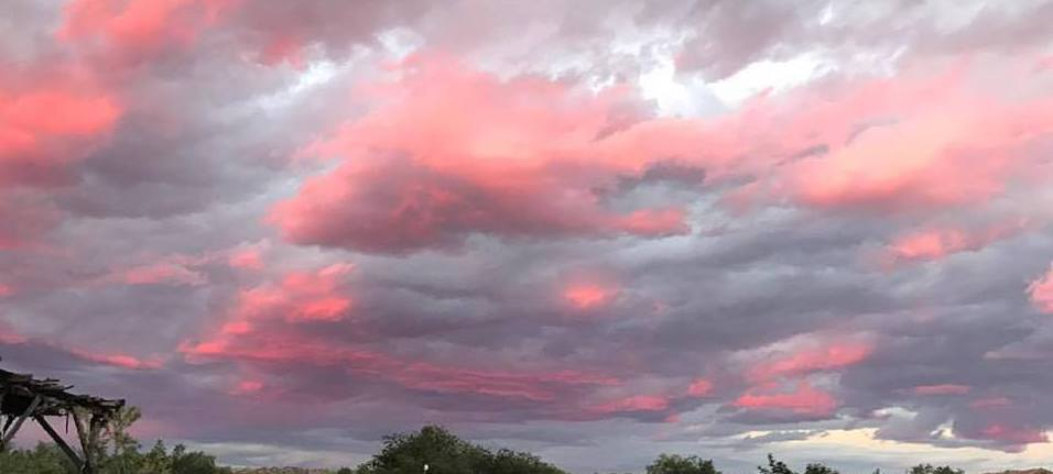 New Mexico Sunset instead of routine monotony