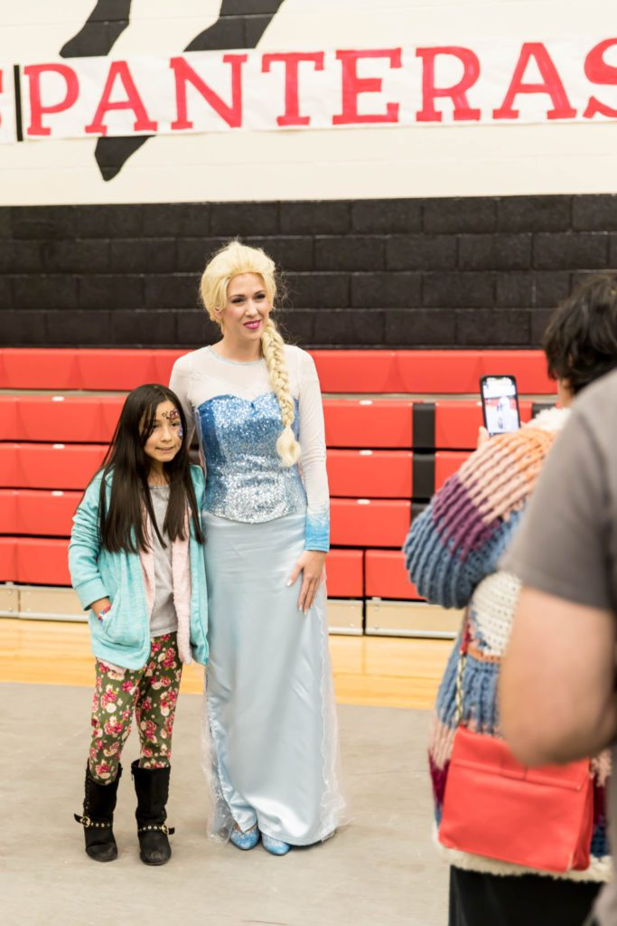 Albuquerque Moms Blog Easter Egg Hunt at Menaul School sponsored by Cornali & McDonald Orthodontic Specialists Queen Elsa Singing Princess Parties