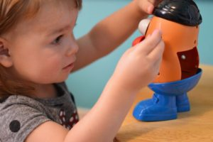 Mr. Potato Head, patience, Albuquerque Moms Blog, toddler
