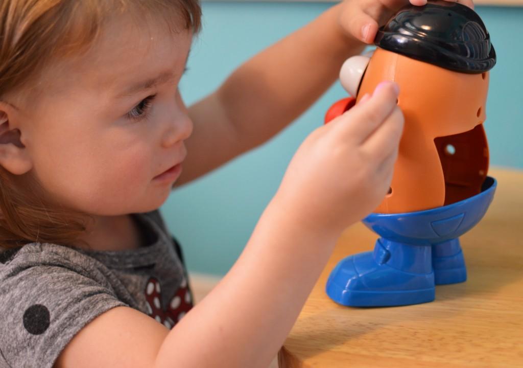 Mr. Potato Head, patience, Albuquerque Moms Blog, toddler