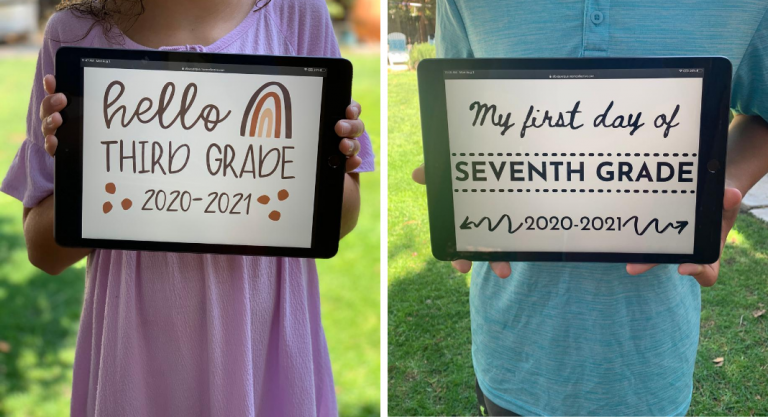 Free First Day of School Printables (Two Designs To Choose From)