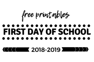 free first day of school printables, Albuquerque Moms Blog
