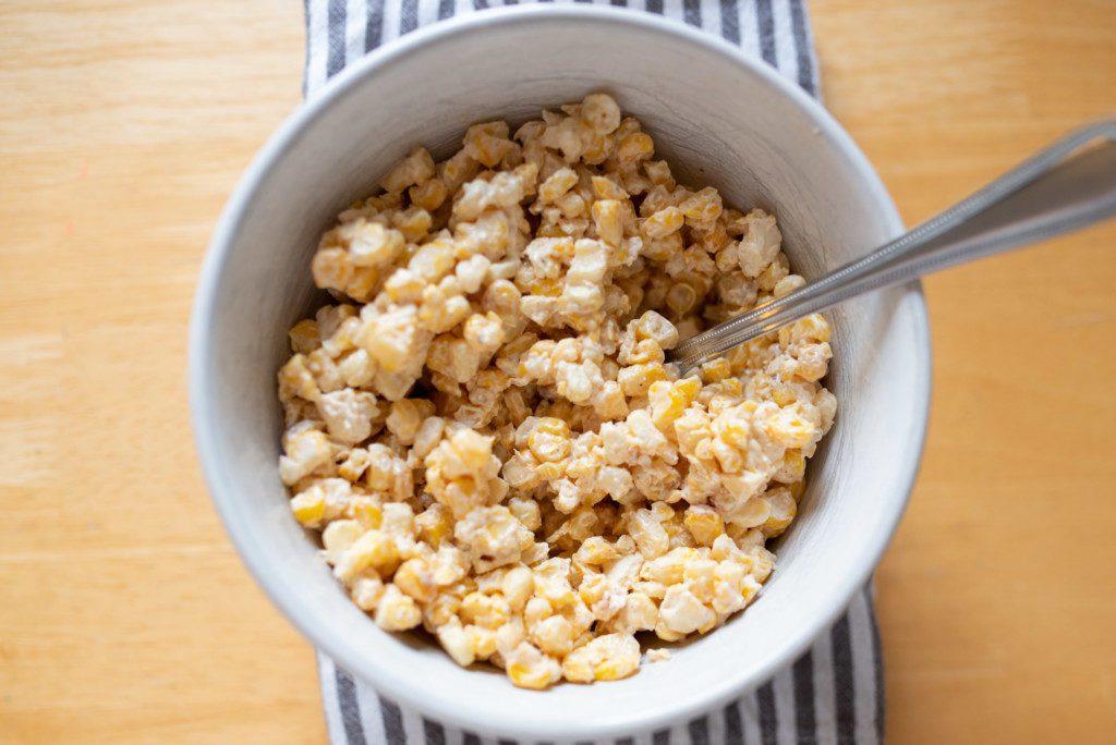 mexican street corn recipe by Mandie Segura for Albuquerque Moms Blog