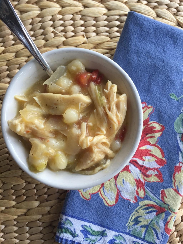 Easy Crock Pot Green Chile Chicken Posole Recipe   Albuquerque Moms Blog