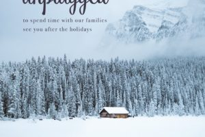 unplugged, unplugging for the holidays