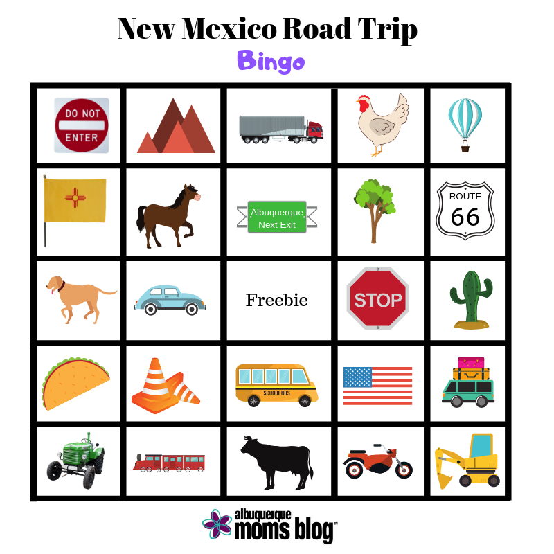 graphic relating to Road Trip Bingo Printable called Spring Crack Street Family vacation Printable