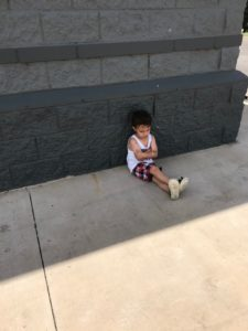 Sad Toddler on Sidewalk Albuquerque Mom's Blog