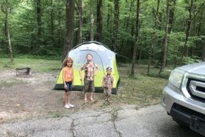 Children with Tent Albuquerque Moms Blog, camp across U.S.