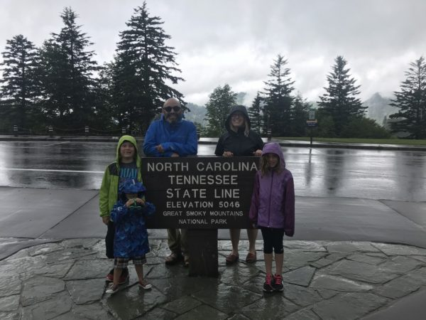 Family at North Carolina and Tennessee State Line Albuquerque Mom's Blog