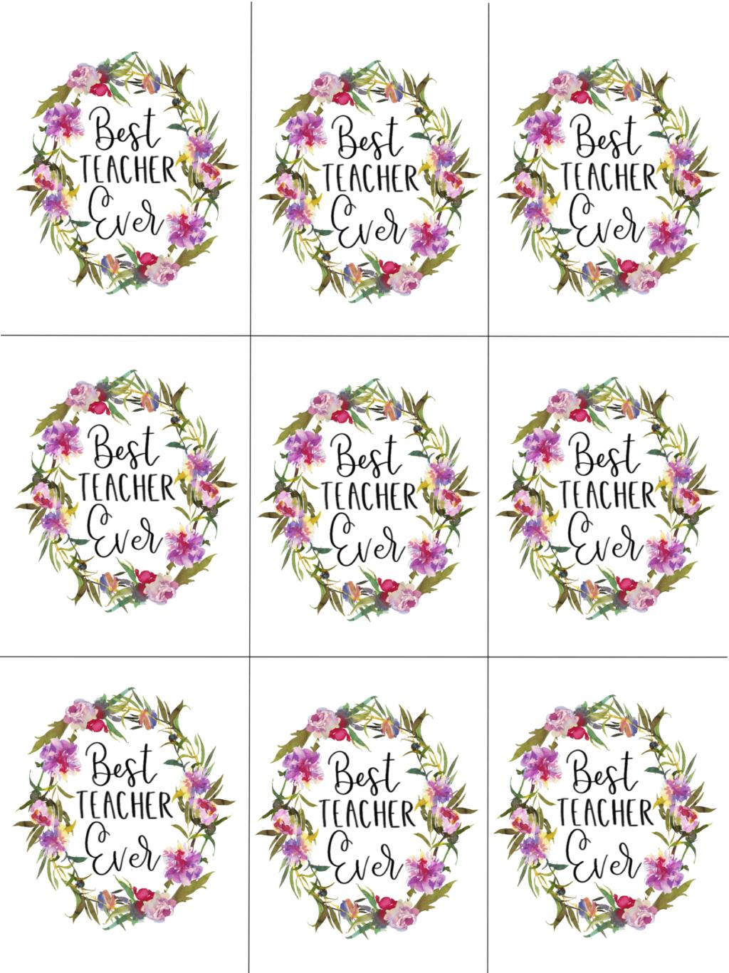 teacher appreciation tags, printable
