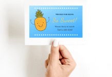 Stay-in-Touch Cards for Kids at the End of the School Year