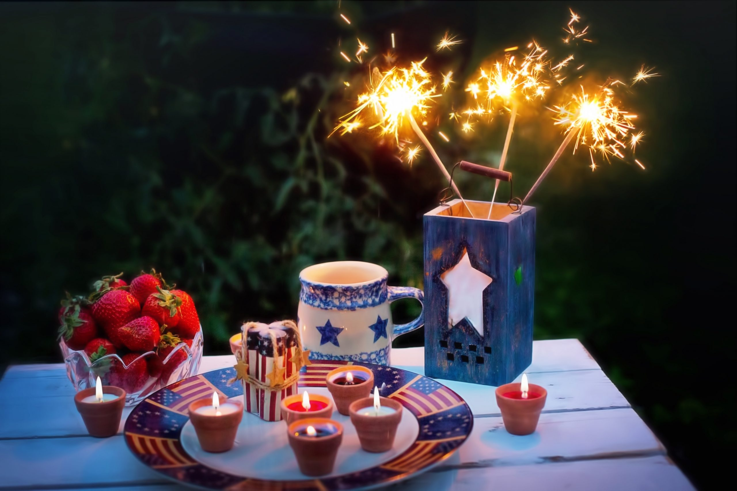 Fourth of July Dessert Table