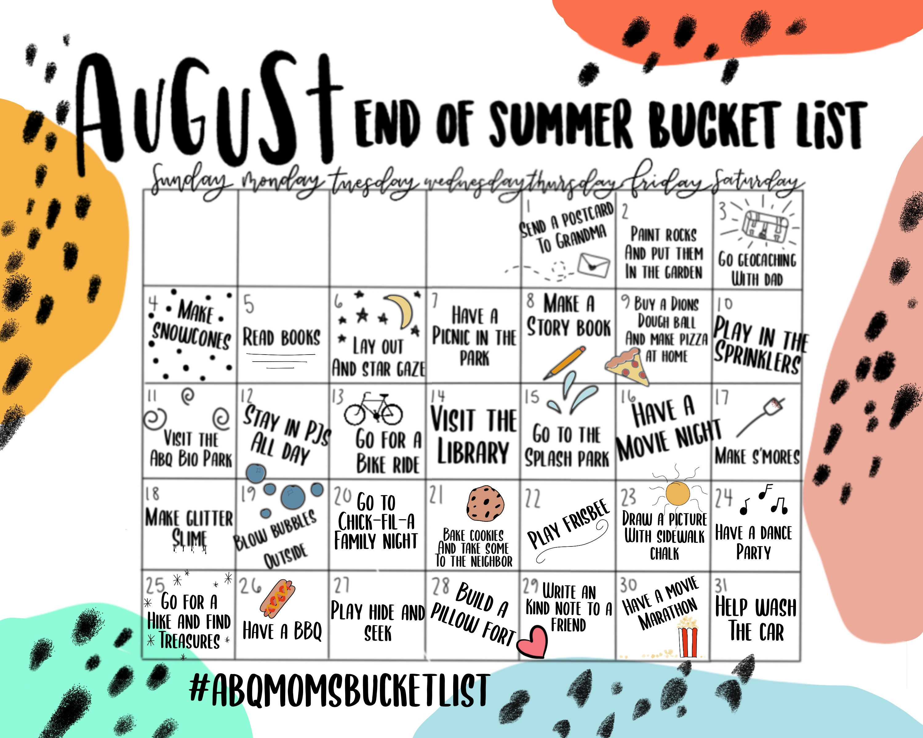 photo regarding Bucket List Printable identify Conclude-of-Summer season Bucket Listing Printable