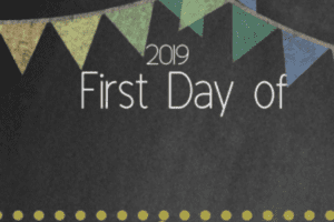 First Day of School Chalkboard Printable 2019