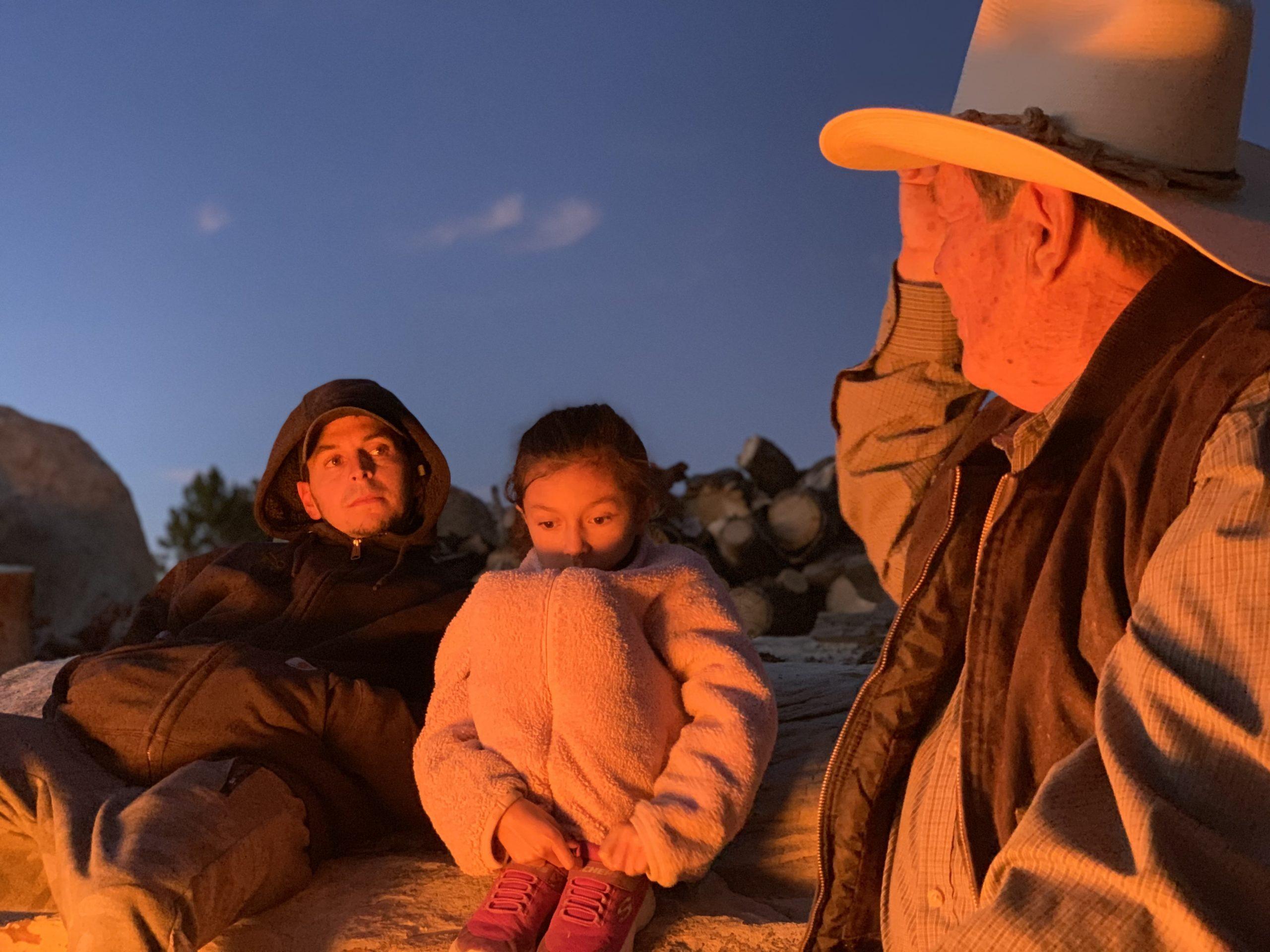 Hispanic Heritage Month, Grandpa Telling Stories Around the Campfire.