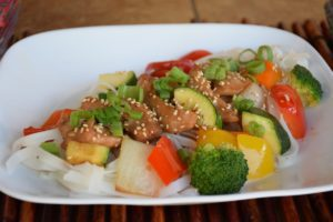 Teriyaki chicken and vegetables small