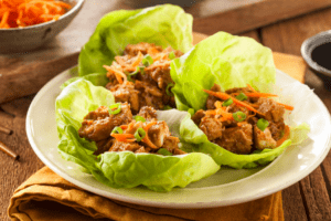 asian chicken lettuce wraps, easy, Albuquerque Moms Blog
