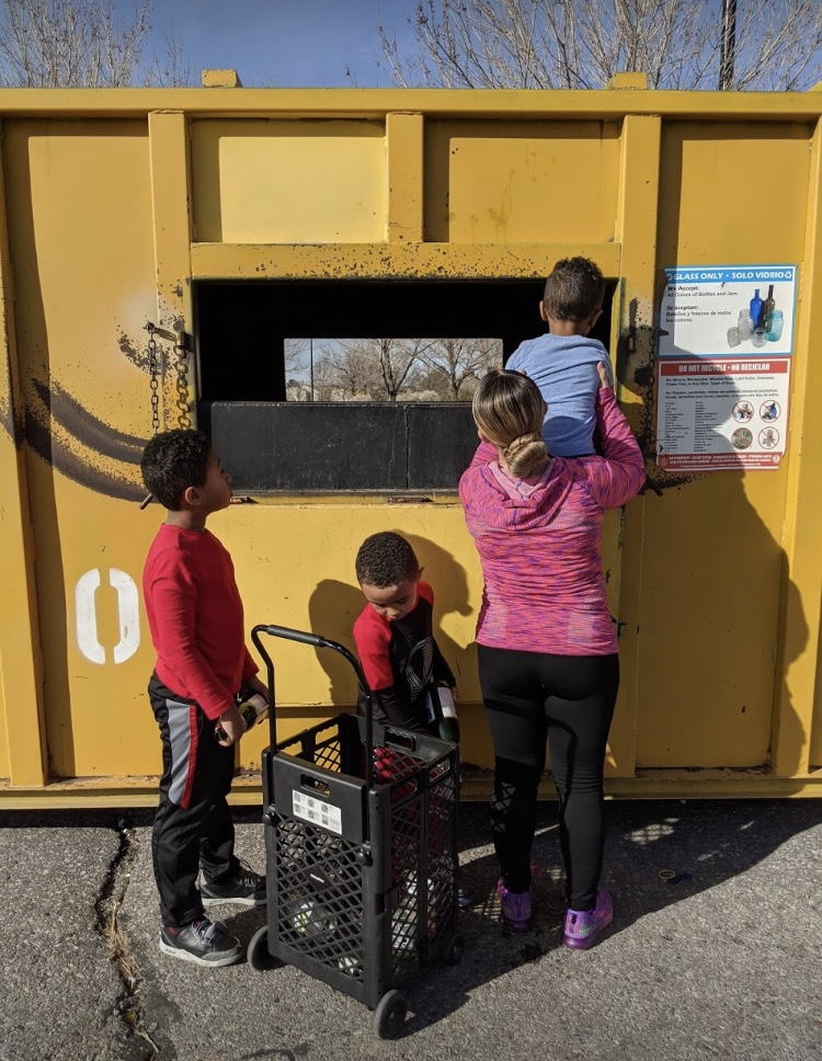 recycling with kids, ABQ Moms, recycle