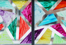 Create Your Own Stained Glass Window + Make Your Own Chalk