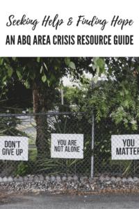 ABQ Area Crisis Resource Guide