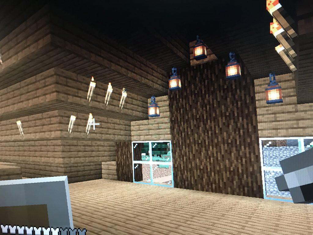 Minecraft house upstairs