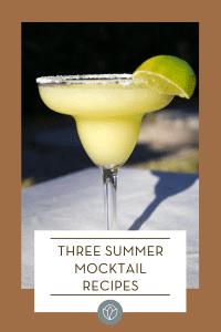 three summer mocktail recipes