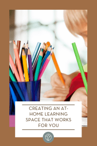 creating an at-home learning space, ABQ Mom