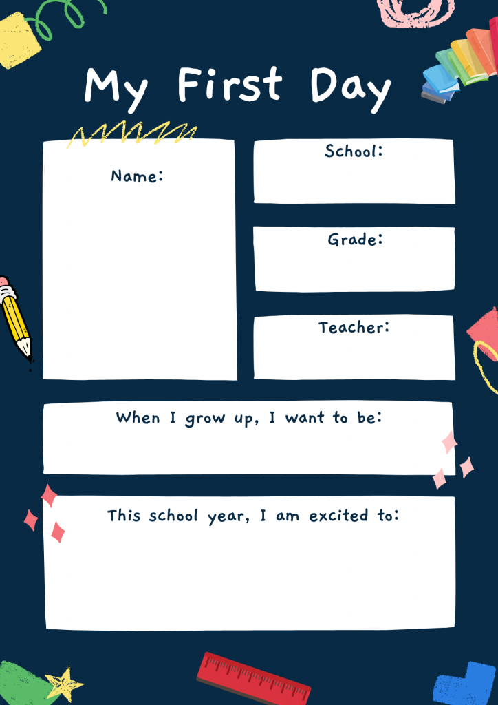 Chalkboard Back to School Milestone