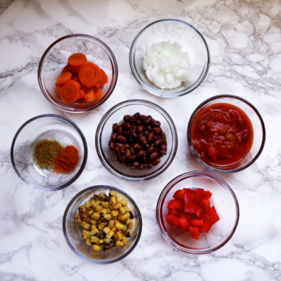 Mason Jar Soup Ingrediants