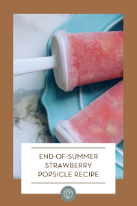 End-of-Summer Strawberry Popsicles, ABQ Mom