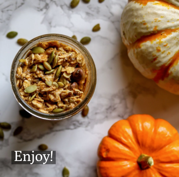 Finished Pumpkin Overnight Oats
