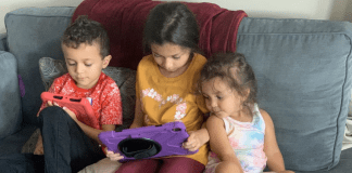 My kids play Roblox together