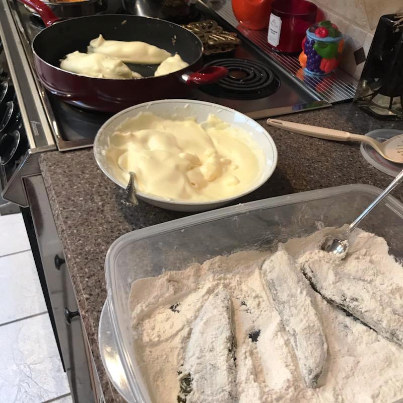 Fall recipe - chile rellenos