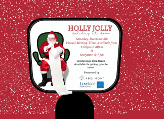 holly jolly holiday at home, virtual Santa event