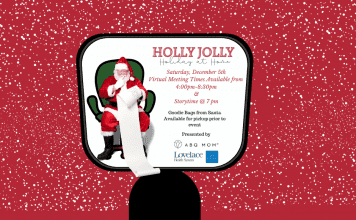 holly jolly holiday at home, virtual Santa event